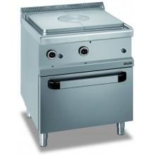 Mașină de gătit cu plită integrală 9 kW, cuptor gaz GN 2/1, alimentare gaz, seria Magistra 700