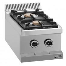 Mașină de gătit de banc, 2x5.5 kW arzătoare, alimentare gaz, seria Magistra 700