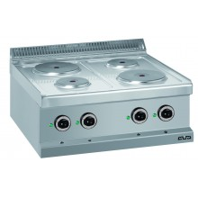Mașină de gătit de banc, 4 plite rotunde 2x1.5+2x2.6 kW, alimentare electrică, seria Magistra 700