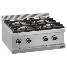 Mașină de gătit de banc, 4x5.5 kW arzătoare, alimentare gaz, seria Magistra 700