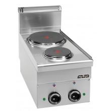Mașină de gătit de banc, 2 plite rotunde 1.5+2.6 kW, alimentare electrică, seria Minima 600