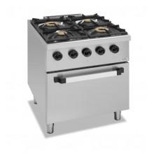Mașină de gătit cu 2x3.5 kW 2 x6.5 kW arzătoare, cuptor gaz, alimentare gaz