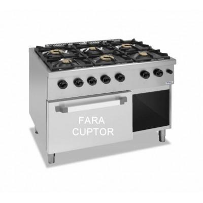 Mașină de gătit cu  6 focuri si suport deschis