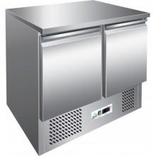 Masă salată cu 2 uși și suprafața de lucru din oțel, model SS45BT