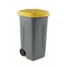 Coș gunoi cu capac galben, model AV 4682Y, Forcar