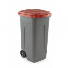 Coș gunoi cu capac roșu, model AV 4682R, Forcar