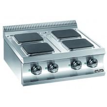 Mașină de gătit de banc, 4 plite pătrate 4x2.6 kW, alimentare electrică, seria Domina 700
