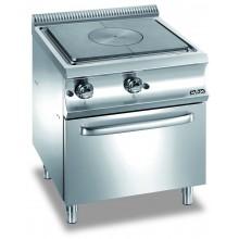 Mașină de gătit cu plită integrală 9 kW, cuptor gaz GN 2/1, alimentare gaz, seria Domina 700