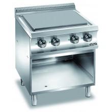 Mașină de gătit cu plită integrală 4x2.5 kW, cu suport deschis, alimentare electrică, seria Domina 700