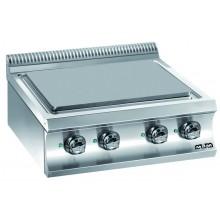 Mașină de gătit cu plită integrală 4x2.5 kW, de banc, alimentare electrică, seria Domina 700