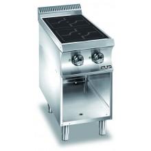 Mașină de gătit cu plită integrală 2x3.5 kW, încălzire inducție, suport deschis, alimentare electrică, seria Domina 700