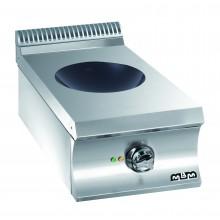 Mașină de gătit cu wok 5 kW, încălzire inducție, de banc, alimentare electrică, seria Domina 700