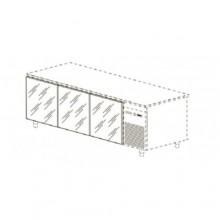Kit 3 uși sticlă pentru mese reci 600/700 mm adâncime, KPV/03