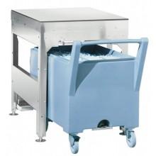 Container stocare gheață cu un cărucior, 46+109 kg